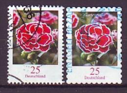 BRD - 2008 - MiNr. 2694+2699 - Blumen: Gartennelke - Gestempelt - Used Stamps