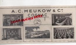 16 - COGNAC - BUVARD A. C. MEUKOW & CIE - MAISON FONDEE EN 1862- - Blotters