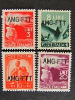 """(C)ITALIA Trieste AMG-FTT-1949-50- """"Democratica"""" 4 Val. MH* (descrizione) - 7. Triest"""