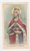 SANTINO D´EPOCA (antico), HOLY CARD - ED.G.MI  8 - S. ELISABETTA REGINA  - (recto/verso) - Devotieprenten