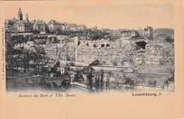 1920, LUXEMBOURG - ROCHERS DU BOCK ET VILLE HAUTE, Rückseitiges Wappen, Karte Nicht Gelaufen Um 1920, Sehr Gute Erhaltun - Ansichtskarten