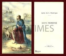PORTUGAL - LISBOA - IGREJA DE S. DOMINGOS - DOMINGOS DE GUSMAO - 1957 HOLLY CARD - Devotion Images