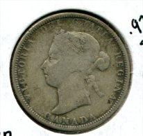 CANADA 25 CENTS 1883 H VG KM 5 NR 11.25 - Canada