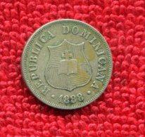 DOMINICAN REPUBLIC 2 1/2 CENTS KM 7 1888 VF NR .99 - Dominicaine