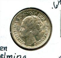 NETHERLANDS 25 CENTS 1944 P ACORN KM 164 BU NR 3.50 - [ 3] 1815-… : Reino De Países Bajos