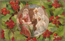 Scene Of Viegin Mary With Baby Jesus, Angels Singing And Playing Music, 00-10s - Jesus