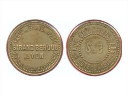 JETON DE NECESSITE DE LYON -  BON POUR UN DEGRAISSAGE - SIRAND-BEROUD - Monétaires / De Nécessité