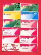 LOT DE TICKETS DE BUS METRO TRAMWAY DE LYON - TOUS DIFFERENTS - Métro