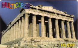 SUISSE PREPAID MULTICARDS PARTHENON GRECE GREECE 10FCH UT