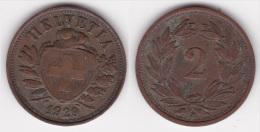SUISSE : 2 CENTIMES RAPEN 1929 Bronze  (voir Scan) - Suiza