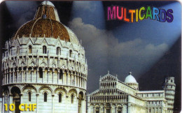 SUISSE PREPAID MULTICARDS TOUR PISE PISA TOWER 10FCH UT - Cultura