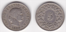 SUISSE : 5 CENTIMES RAPEN 1889 Nickel Cuivre  (voir Scan) - Suisse