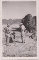 Unique Asie,viet-nam,la Baie D'along,baie De Ha Long En Travaux Décembre 1951,militaire Français,carte Photo - Vietnam