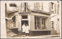 28 . EPERNON . Rue Drouet Angle De La St Pierre - Coiffeur - Carte Photo - Epernon