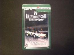 CARTE  TELEPHONE  MONACO  7,50 EURO  RALLY MONACO MONTE - CARLO  HISTORIQUE MUCH RARE !! TIRAGE 6000 - Sport