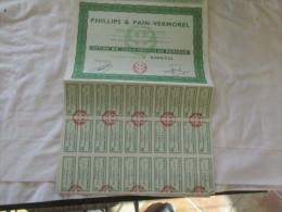 PHILLIPS ET PAIN VERMOREL A MONTROUGE ACTION DE 5000 FR - Actions & Titres