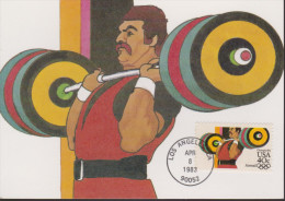 Sp 587) USA Mi# 1625 A FDC MK MC: Gewichtheben - Pesistica