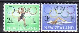 ZEL149 - NUOVA ZELANDA 1968 ,  Yvert Serie 471/472  *** - Nuova Zelanda