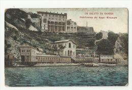2952 ITALY SAVONA LIGURIA ESTABLISHMENT FOR BATHROOMS MIRAMARE CIRCULATED TO ARGENTINA POSTAL POSTCARD - Italia