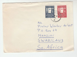 1962 SWEDEN To SWAZILAND Africa COVER Stamps - Sweden