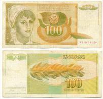 Yugoslavia 100 Dinara 1990 Pick-105 Ref 92143 - Yougoslavie