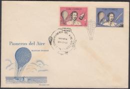 1965-FDC-3  CUBA. FDC. 1965. PIONEROS DEL AIRE. GLOBOS AEROSTATICOS. HOT AIR BALLOON.  MATIAS PEREZ. - FDC
