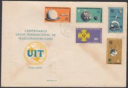 1965-FDC-12  CUBA. FDC. 1965. IUT. CENTENARIO DE LA UNION INTERNACIONAL DE TELECOMUNICACIONES. RADIO. - FDC