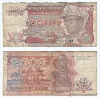 Zaire 2.000 Zaires 1991 Pk-36-a Ref 55 - Zaire