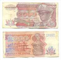 Zaire 2.000 Zaires 1991 Pick-36-a Ref 22264 - Zaire