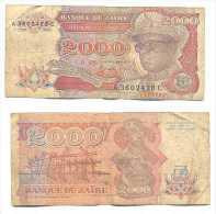 Zaire 2.000 Zaires 1991 Pick-36-a Ref 22268 - Zaire