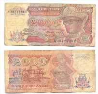 Zaire 2.000 Zaires 1991 Pick-36-a Ref 22269 - Zaire
