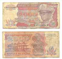 Zaire 2.000 Zaires 1991 Pk-36-a Ref 22273 - Zaire