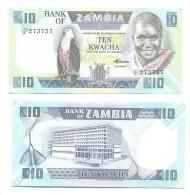 Zambia 10 Kwacha 1980-88 Pick-26-e UNC - Zambia