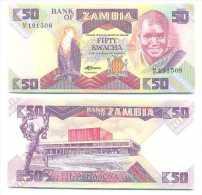 Zambia 50 Kwacha 1986-88 Pick-28-a UNC - Zambia