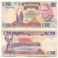 Zambia 50 Kwacha 1986-88 Pick-28-a Ref 83055 - Zambia