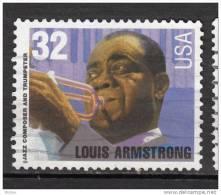 USA, Musique, Jazz, Trompette, Louis Armstrong, Music, Trumpet, Noir, Black - Musique