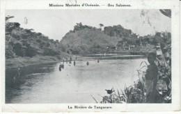 Solomon Islands, Tangarare River With Natives, Missions Maristes D'Oceanie, C1900s/10s Vintage Postcard - Solomon Islands