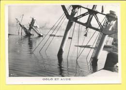 Navire Guerre GOLO et AUDE  (Papier gevaert, ridax) Sabordage de la flotte