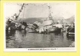 """Navire Guerre Contre-Torpilleurs """" Le KERSAINT et le VAUQUELIN """" (Papier gevaert, ridax) Sabordage de la flotte"""