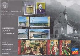 Liechtenstein Brochure 2014 March - Europa: Musical Instruments - Bridges - Josef Gabriel Rheinberger - Altar Paintings - Liechtenstein