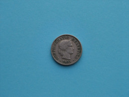 1905 - 5 Rappen / KM 26 ( Uncleaned Coin / For Grade, Please See Photo ) !! - Suisse