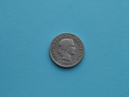 1906 - 10 Rappen / KM 27 ( Uncleaned Coin / For Grade, Please See Photo ) !! - Suisse