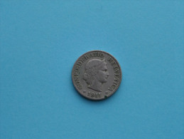1911 - 10 Rappen / KM 27 ( Uncleaned Coin / For Grade, Please See Photo ) !! - Suisse