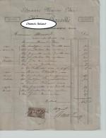 Document Du 20/08/1892 HENRI CAVAILLE Draperie Nouveauté - Bédarieux - 34 Hérault - France