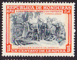 Honduras 1952 Discovery America - 1c. Multi MINT - Honduras