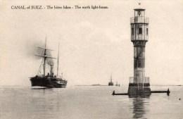 Postcard - North Lighthouse, Suez Canal. 377 - Lighthouses