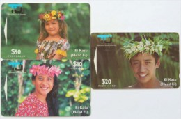 COOK ISLANDS - GPT Pair - 2nd Issue Set Of 3 - Mint - Cook Islands