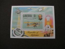 B369- Bloc  MNh Liberia  1979-Sir Rowalnd hill - Curtiss Jenny