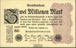 Deutsches Reich Rosenbg: 103c, Wasserzeichen Ringe Gebraucht (III) 1923 2 Millionen Mark - [ 3] 1918-1933 : Repubblica  Di Weimar