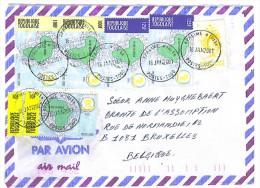 VEND TIMBRES DU TOGO N° 2842 + 3159 X 2 + 3161 EN PAIRE + 3162 X 2 , SUR LETTRE , COTE : ?, !!!! - Togo (1960-...)